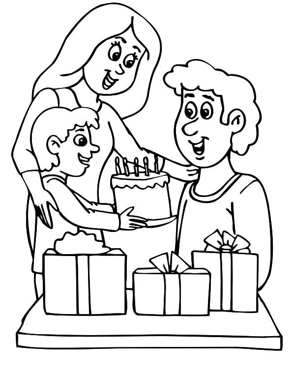 Father Birthday Party Coloring Pages