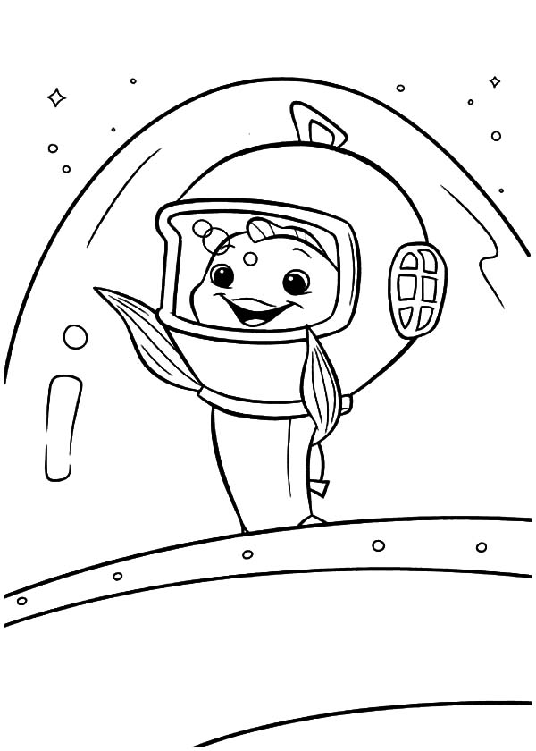 Fish Out of Water Goodbye Waving to Chicken Little Coloring Pages