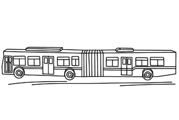 Folding Bellows City Bus Coloring Pages