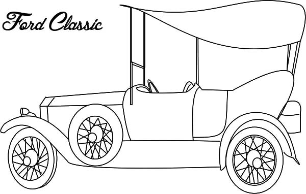 Ford Classic Car Coloring Pages