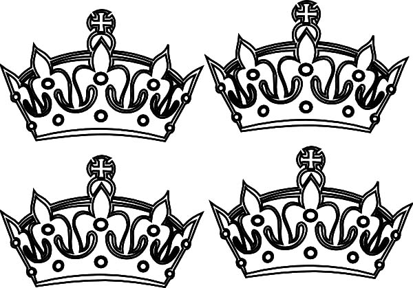 Four Crown Coloring Pages