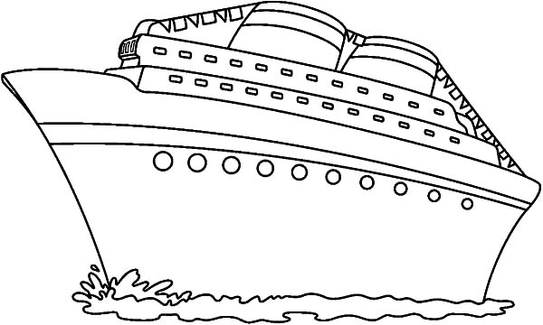 Gigantic Cruise Ship Coloring Pages
