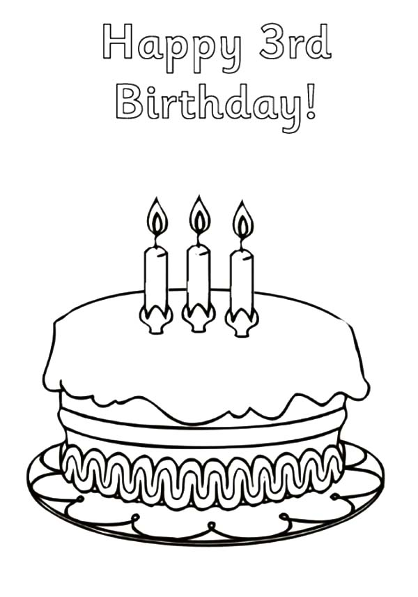Happy Birthday Candle Coloring Pages