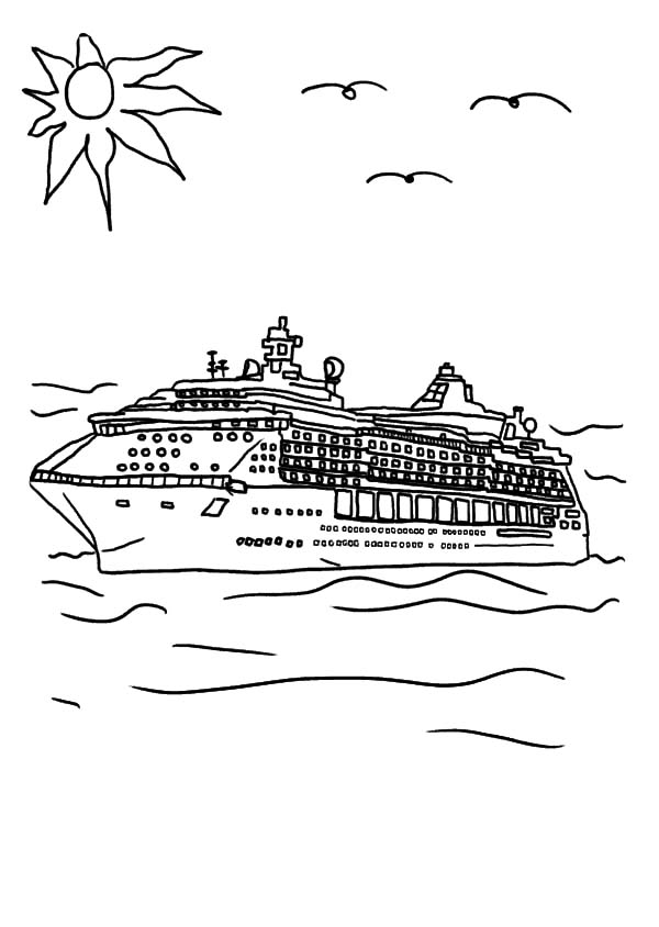 Holiday on cruise ship coloring pages netart for Cruise ship coloring page