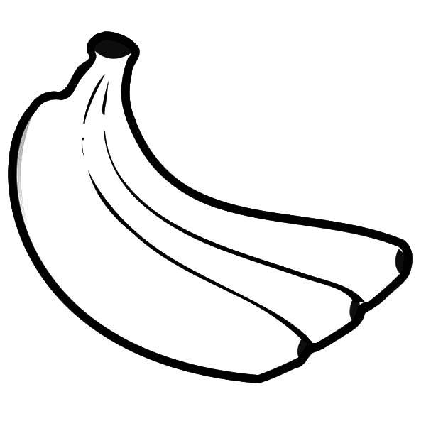 How to Draw Banana Bunch Coloring Pages