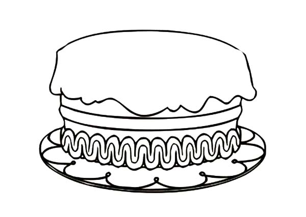 how to draw birthday cake coloring pages - Birthday Cake Coloring Pages