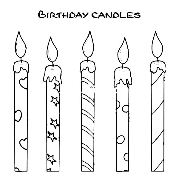 Challenger image with printable candles