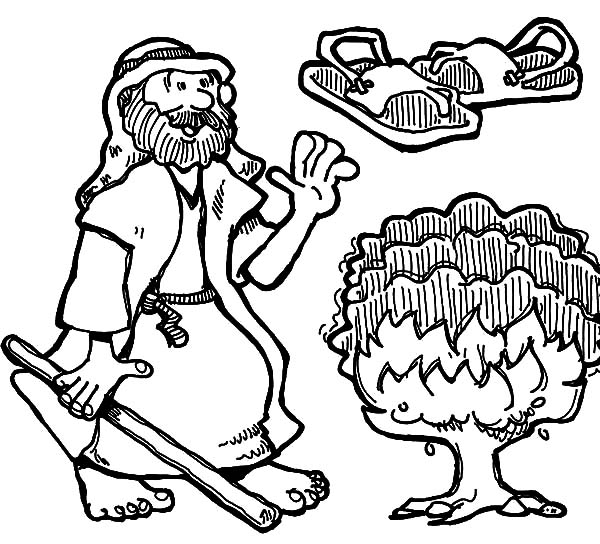 Best Free Printable Moses Coloring Pages Ideas