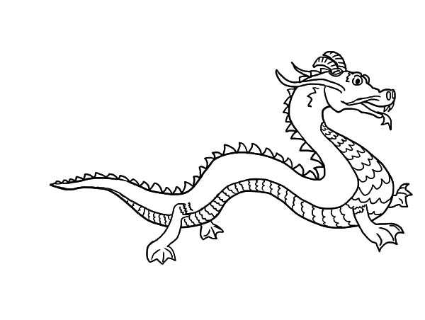 How to Draw Chinese Dragon Coloring Pages