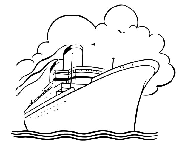 How to Draw Cruise Ship Coloring Pages