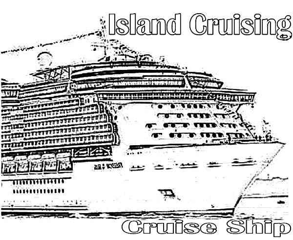 Netart 1 place for coloring for kids part 18 for Cruise ship coloring page