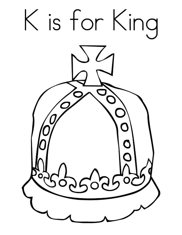 k is for king crown coloring pages