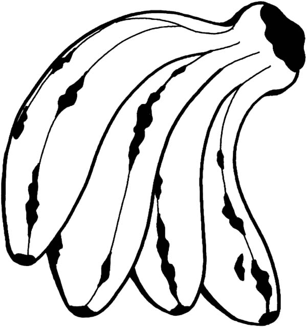 Kid Love Banana Bunch Coloring Pages