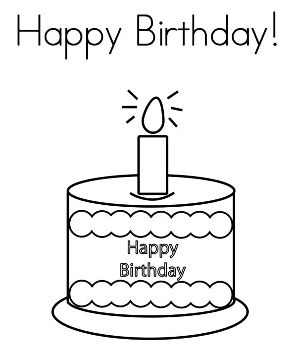Kids Drawing Birthday Candle Coloring Pages