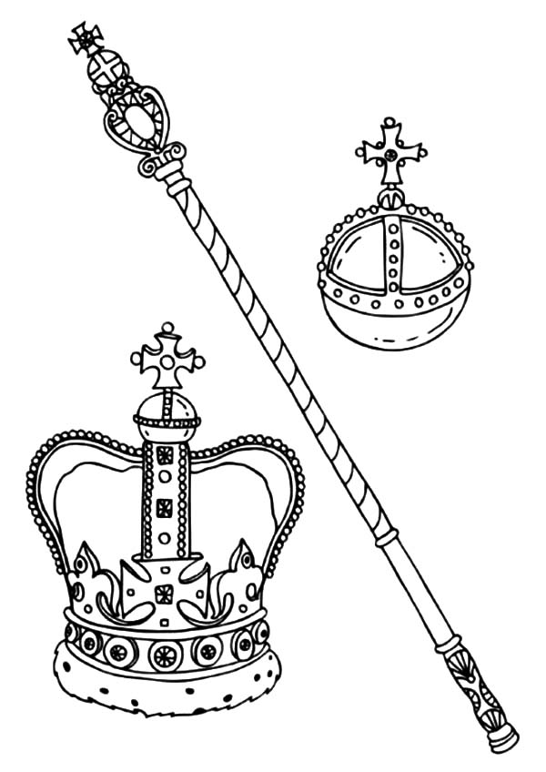 King and Queen Crown Coloring Pages NetArt