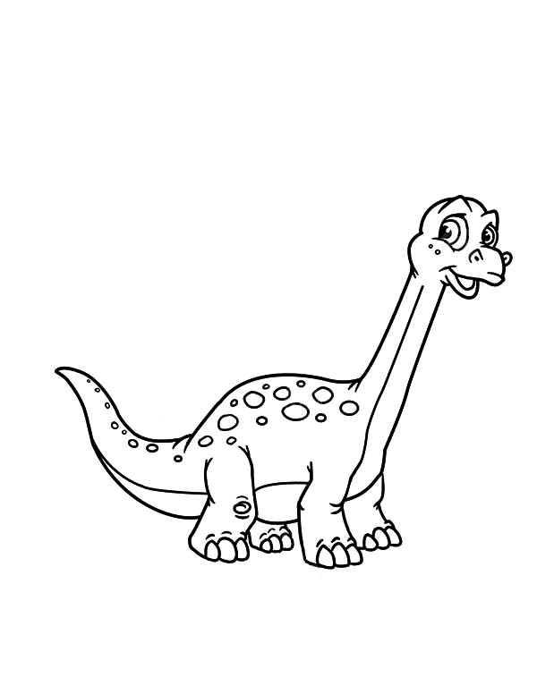 Little Diplodocus Coloring Pages