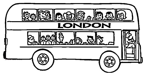 London City Tour Bus Coloring Pages