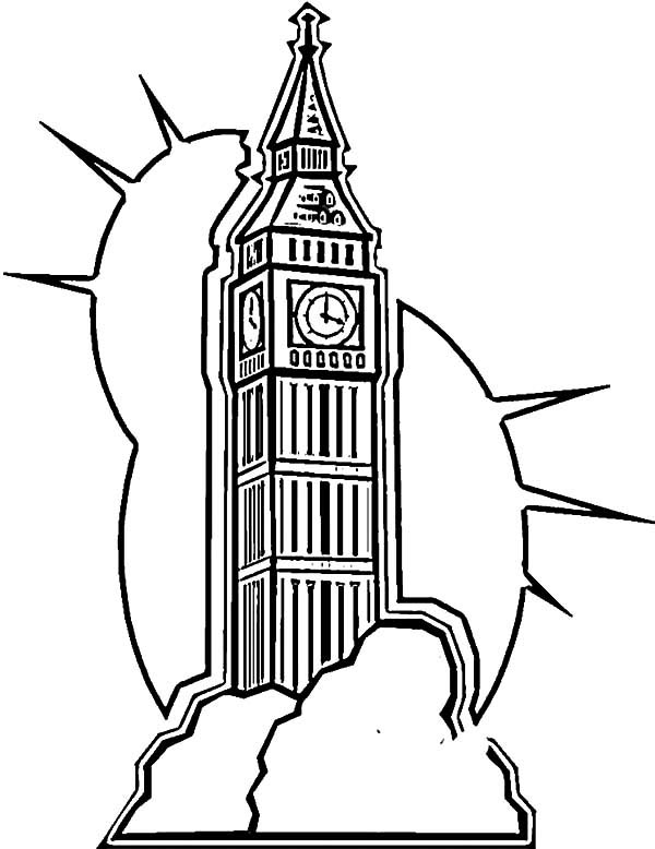 London Clock Tower Shine Coloring Pages - NetArt