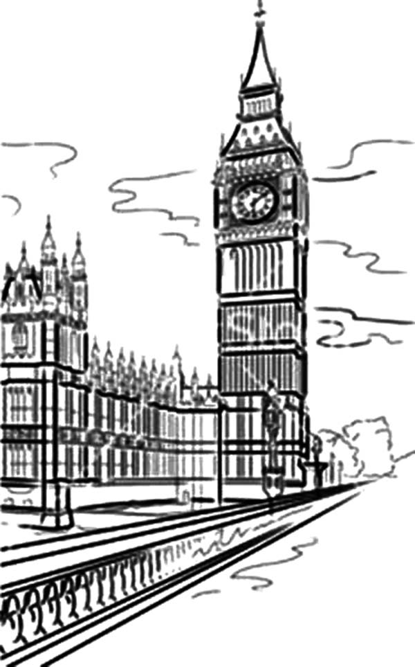 River Thames Free Colouring Pages