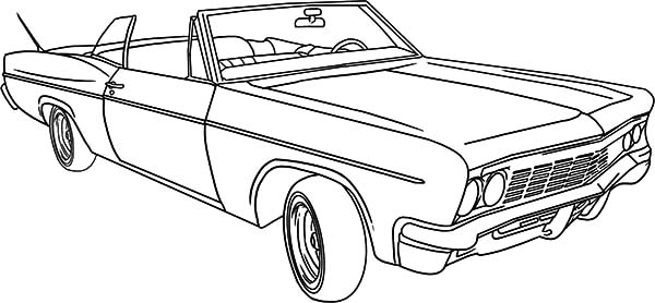lowrider classic car coloring pages - Car Coloring Page