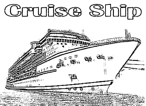 Luxurious Cruise Ship Coloring Pages