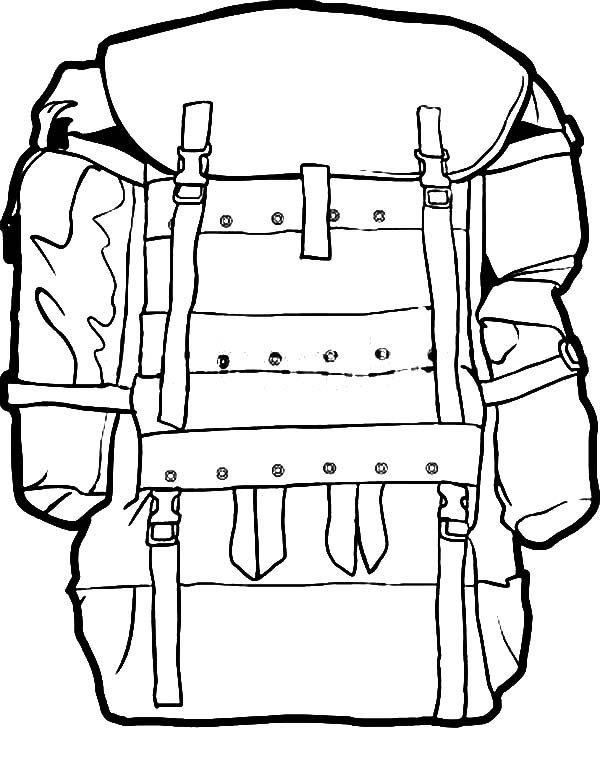 Military Camping Backpack Coloring Pages NetArt