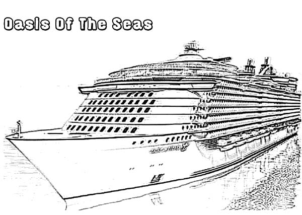 Oasis of the Seas Cruise Ship Coloring Pages