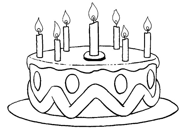 picture of birthday cake coloring pages - Birthday Cake Coloring Pages