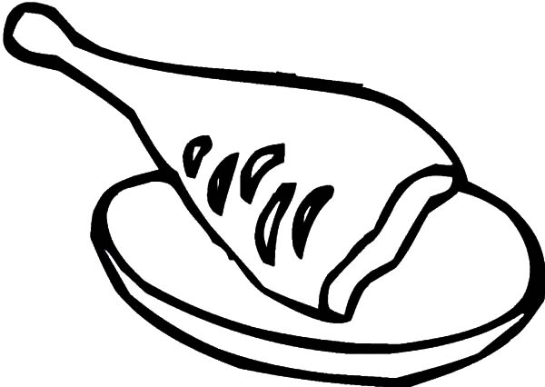 Piece of Chicken Drumstick Coloring Pages