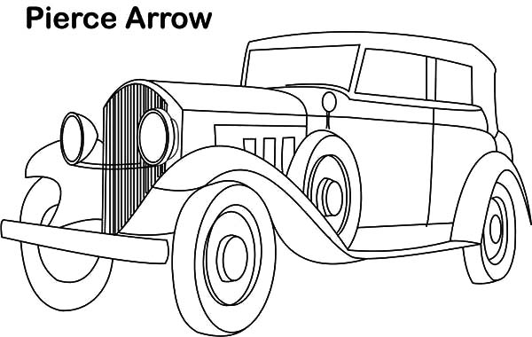 Pierce Arrow Classic Car Coloring Pages