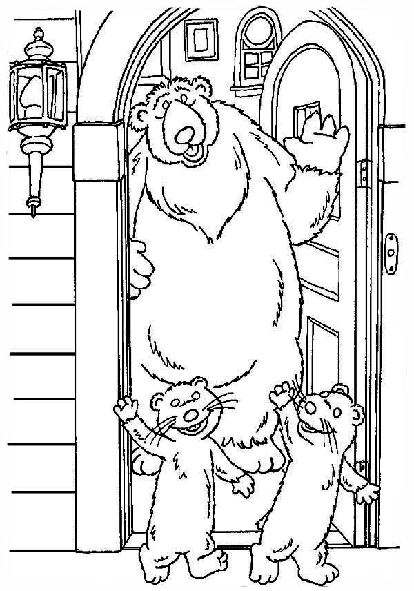 Pip and Pop Leaving Bear inthe Big Blue House Friend Coloring Pages