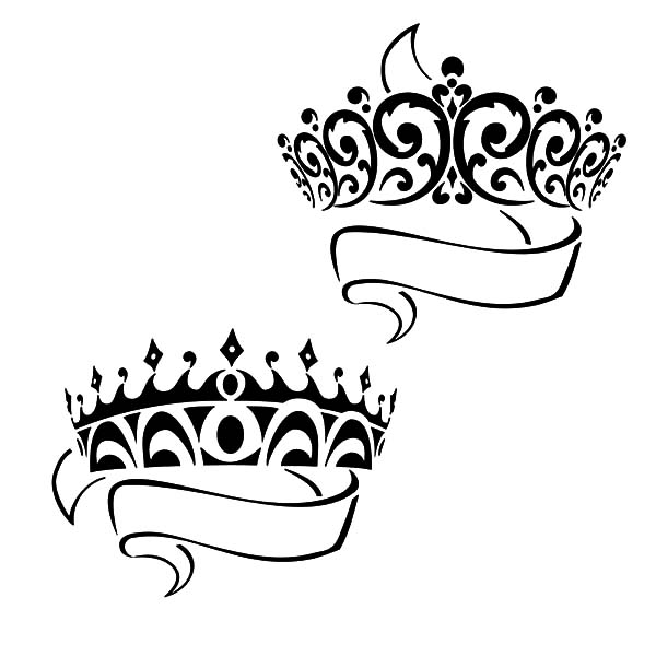 Prince and Princess Crown Coloring Pages NetArt