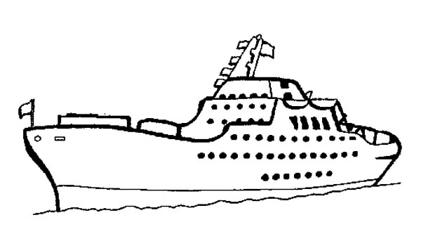 crusie ship coloring pages - photo#25