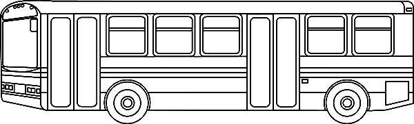 Public Transporation City Bus Coloring Pages - NetArt