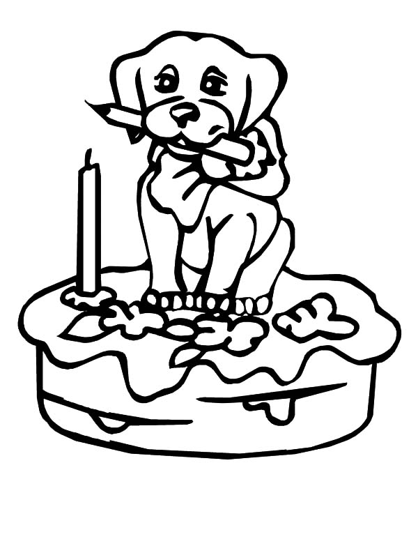 Cake Free Colouring Pages