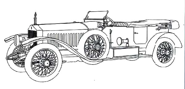 Roll Royce Continental Classic Car Coloring Pages
