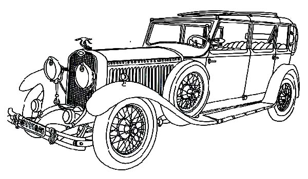Old Classic Car Coloring Pages