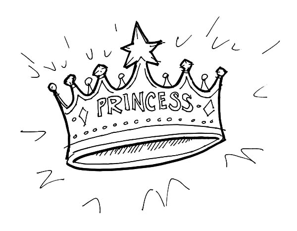 Shining Princess Crown Coloring Pages