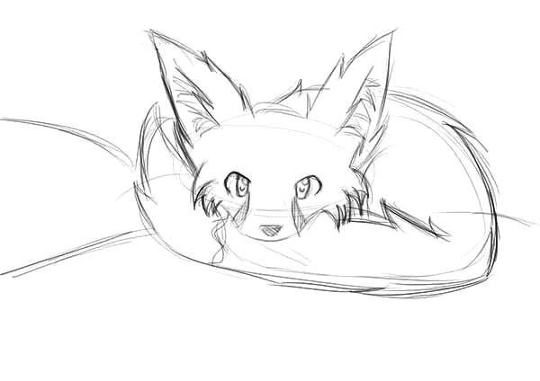 Shy Baby Desert Fox Coloring Pages