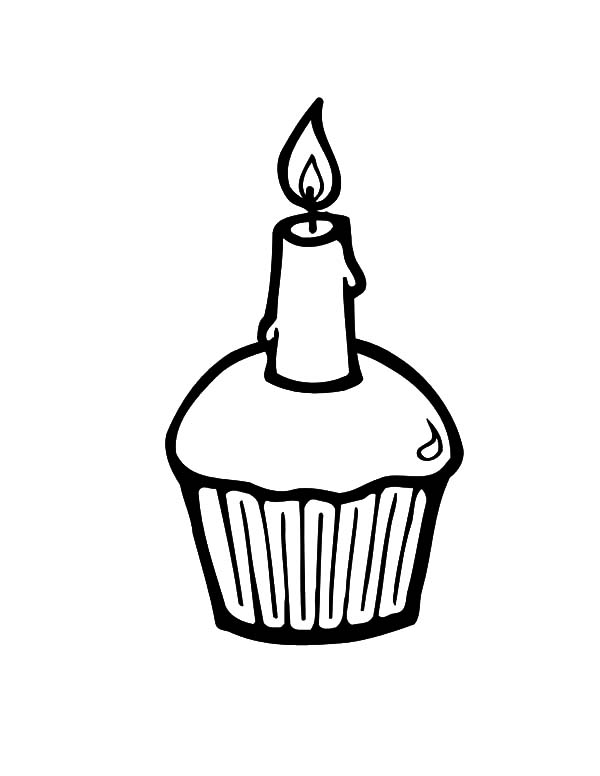 Simple Birthday Cake Coloring Pages