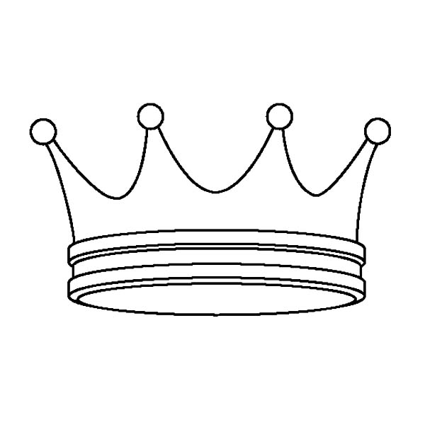 Simple Design Prince Crown Coloring Pages