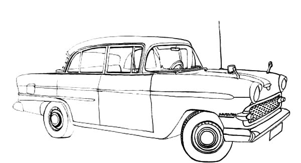 Sketch of a Classic Car Coloring Pages