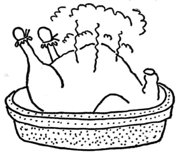 Steamed Chicken Drumstick Coloring Pages