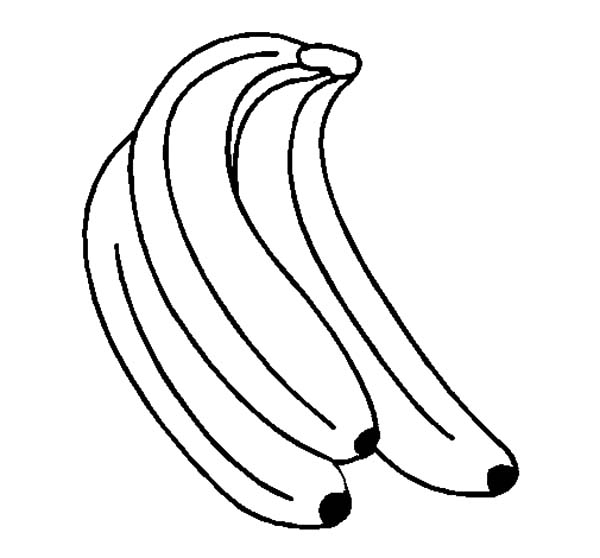 Three Banana Bunch Coloring Pages