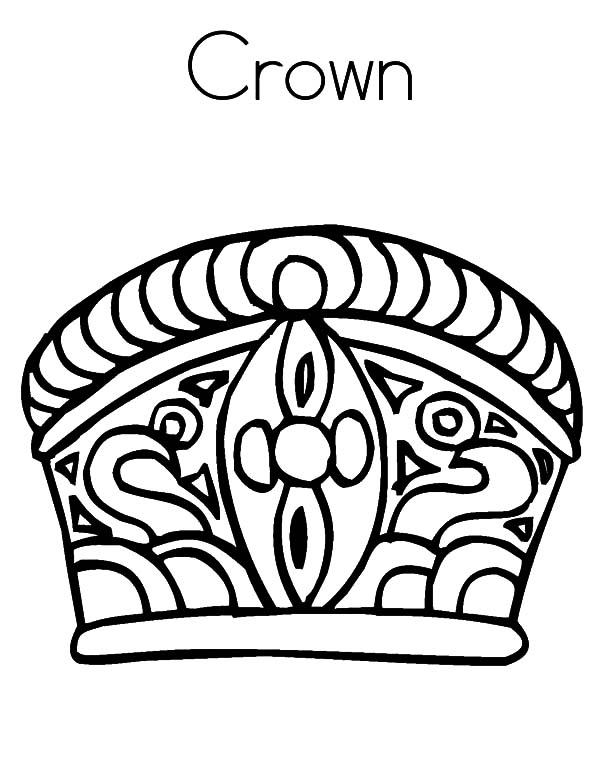 Tribal Design Crown Coloring Pages