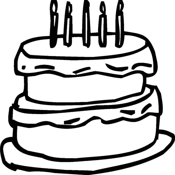 two story chocolate cake coloring pages - Coloring Pages For Two Year Olds