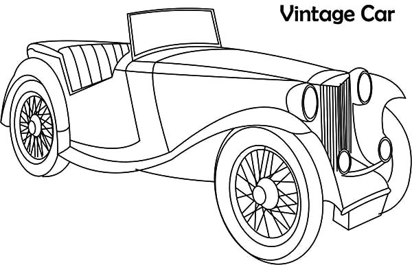 coloring pages antique cars | NetArt - #1 Place for Coloring for Kids - Part 2