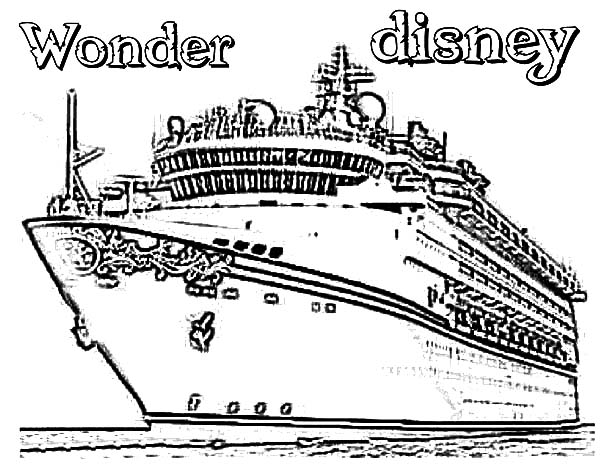 wonder disney cruise ship coloring pages