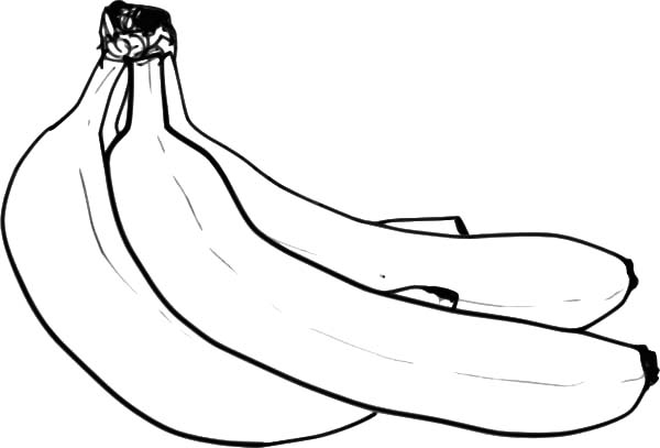 Yummy Banana Bunch Coloring Pages