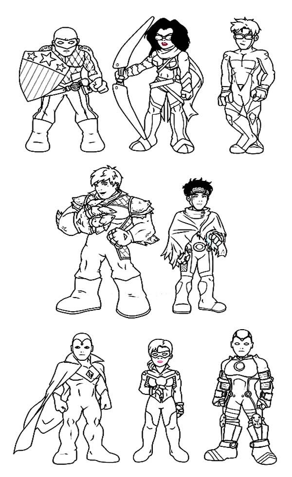 Amazing Super Hero Squad Coloring Page Netart
